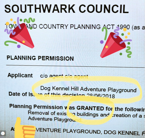 Great news for The Adventure Playground!!